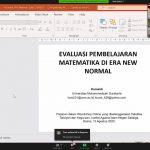 Prodi Tadris Matematika Selenggarakan Webinar Evaluasi Pembelajaran